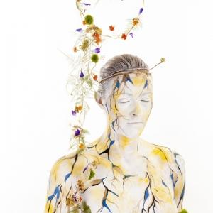 Chloris | model Barbara | MUA Sylvia de Kok | Headpiece FLOS Bloem Designer